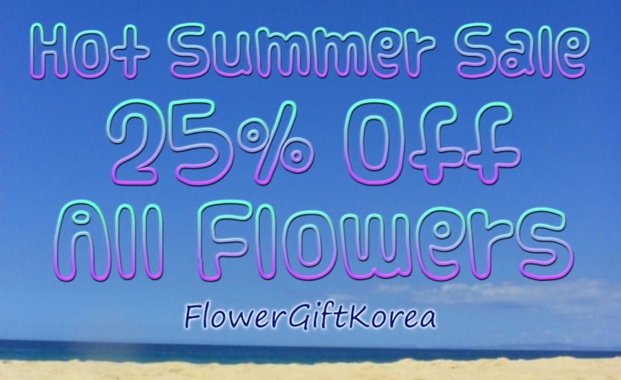 Flower Gift Korea Hot Summer Sale for flower delivery