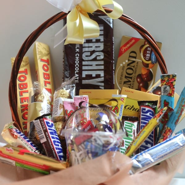 Flower, Chocolate, Snacks And Gift