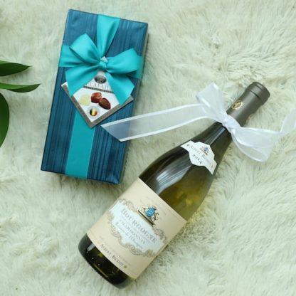 Flower Gift Korea Chocolates and Wine