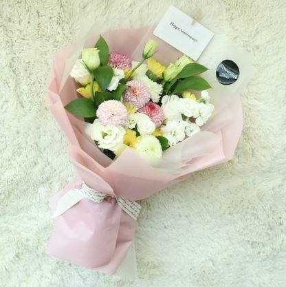 Flower Gift Korea Pom Poms Gerbera and Seasonal Flowers to Korea