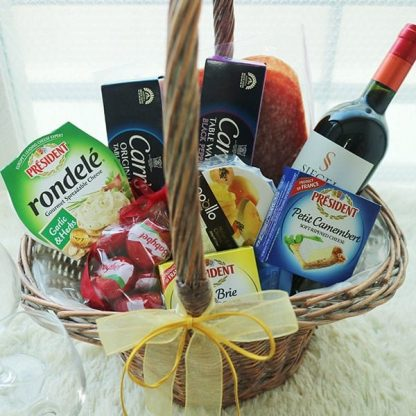 Flower Gift Korea Wine Hamper Set