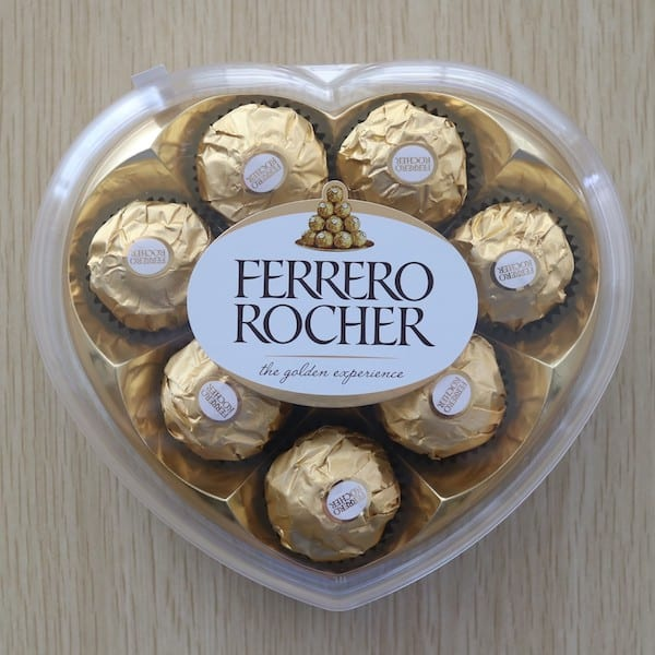 Ferrero Chocolates in Heart Shaped Case