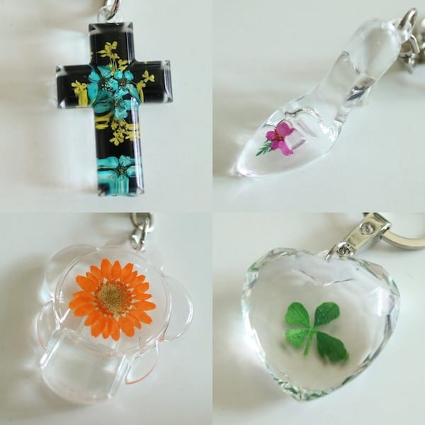 Flower Gift Korea Flower Mixed Key Chain Gift Set
