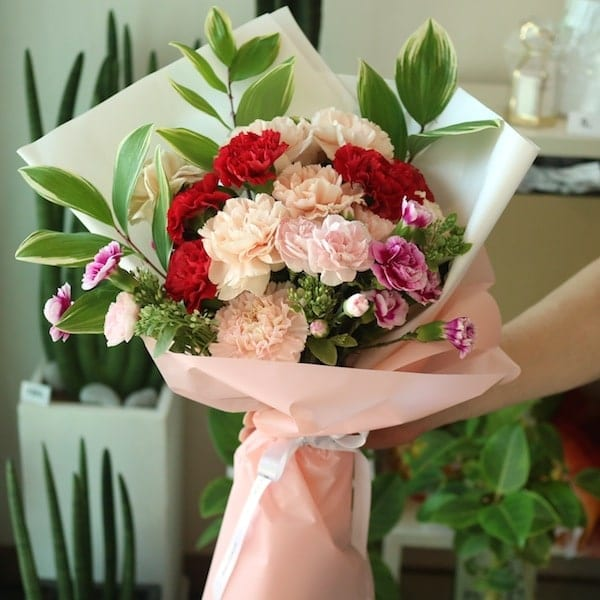 Mixed Carnation Bouquet Flower Gift Korea Delivery