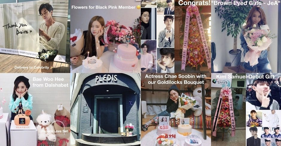 How to Send Flowers and Gifts to Celebrities in Korea