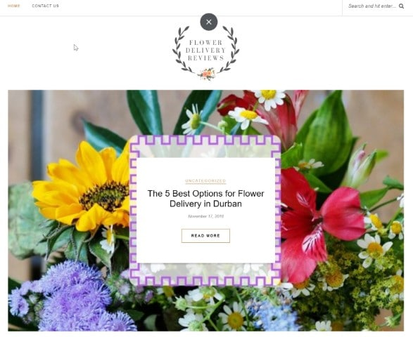 Flower Delivery Reviews Ranking 1st Award
